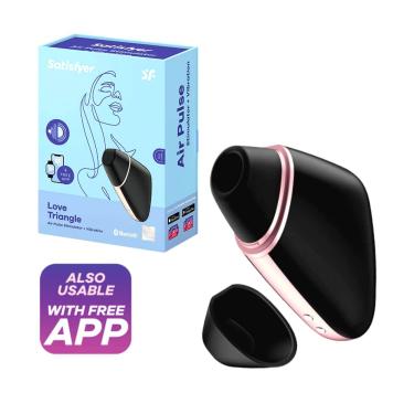 Satisfyer Love Triangle tlakový stimulátor na klitoris Čierna