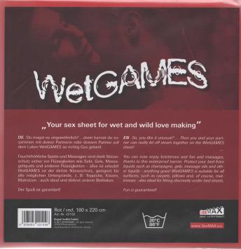 Joydivision SexMax WetGAMES prestieradlo Červená
