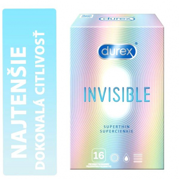 Durex Invisible Superthin (Extra Sensitive) krabička  16 ks