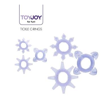 ToyJoy Tickle C-Rings sada 3 erekčné krúžky