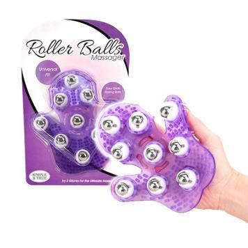 Roller Balls Massager masážna rukavica Purple