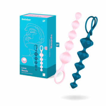 Satisfyer Love Beads análne guličky set Colored